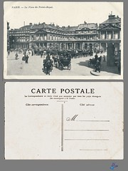 PARIS - La Place du Palais-Royal (bDom) Tags: paris 1900 oldpostcard cartepostale bdom