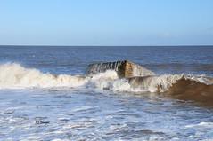 Wave On The Box (EJ Images) Tags: uk england slr beach coast nikon norfolk wave coastal dslr eastanglia breakingwave pillbox caister 2015 nikonslr d90 norfolkcoast pilbox nikondslr nikond90 caisterbeach 18105mmlens norfolkcoastal ejimages dsc1008c