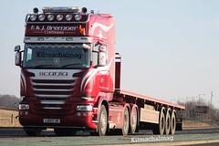 F & J Bremner Caithness Scania L100 FJB V8 King Of The Road (Kilmachalmag) Tags: truck v8 scania flatbed caithness lorries lorrys truckpictures lorryphotos
