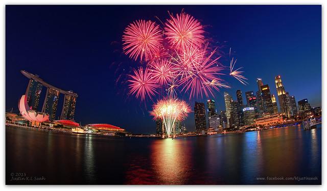 2015 River Hongbao opening ceremony fireworks, Marina Bay, Singapore