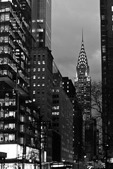 New York (Gusulabu) Tags: bw white newyork black building canon lights chrysler canonef35mmf20 5dmarkii
