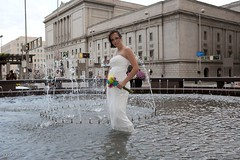 TTD Fountain (John Barrie Photography) Tags: wedding urban brides ttd trashthedress johnbarriephotography velocityphotography wetbride brideinfountain