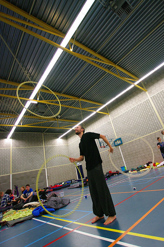 Hula-hoops juggling @ EJF 2014