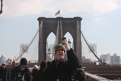 Brooklyn Bridge Selfie Guy (kewguys) Tags: bridge brooklyn selfie