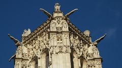 20150124_121656 (SierPinskiA) Tags: paris france clock seine cathedral louvre charlemagne gothic eiffeltower notredame arcdetriomphe riverseine lovelockbridge