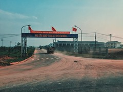 160502 Out side the Hanoi city    Taken by me  #Vietnam #Truck #Industry #Outside #City #Inthecar #Holiday #Blue #Sky #Flag #Green #Afternoon #Smoke #Taken #Ip6 #VSCO #VSCOHanoi #VSCOVietnam #Flickr (minlee3) Tags: city blue sky holiday green industry truck outside flickr afternoon flag smoke taken vietnam inthecar vsco ip6 vscovietnam vscohanoi