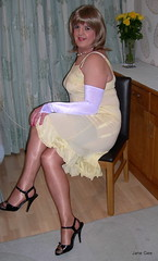 1 Crossover (janegeetgirl2) Tags: stockings yellow contrast vintage tv high glamour opera bra crossdressing full tgirl gloves transvestite copper heels slip crossdresser ts nylon petticoat stilettos fully nylons garters fashioned seams