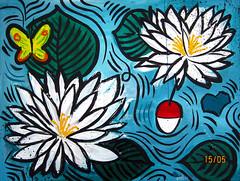 "Tavla ""Summer lake"" (Magnus Dacke) Tags: flowers art water butterfly painting acrylic lily sweden sommer konst canvas sverige mad blommor magnus duk acryl sommar 2016 flte tavla nckros dacke hssleholm fjrill"