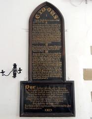St Peter's, Dixton, Monmouth 28 April 2016 (Cold War Warrior Follow Me on Ipernity) Tags: stpeters church chapel monmouth lordsprayer thetencommandments dixton