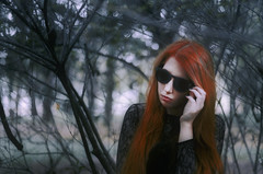 #ProjectNeverland: #AHSCoven (TheJennire) Tags: camera winter light portrait people black cold luz halloween sunglasses fashion forest dark cores photography ginger photo tv woods colours foto photoshoot witch magic young makeup style shades colores fantasy ethereal dreamy ahir tvshow fotografia fx coven camara cabelo pelo cabello ahs conceptualphotography tumblr americanhorrorstory americanhorrorstorycoven ahscoven projectneverland