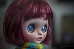Custom #10 - Commission (Dolly Adventures in the Galland Household) Tags: cute childhood stars eyes doll redhead galaxy blythe freckles custom collectibles