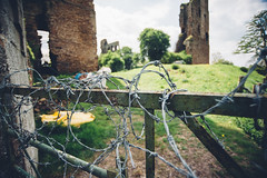 Barbed Wire (Matthew-King) Tags: york castle fence wire gate yorkshire north sheriff hutton barbed