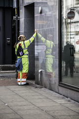Poster removal (tootdood) Tags: street poster manchester high suit oldham removal viz streetcandid canon70d