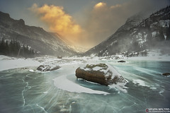 Mills Lake Winter, Colorado (Bryan Maltais) Tags: colorado rockymountains mountains sunset winter snow ice landscape nikon d800