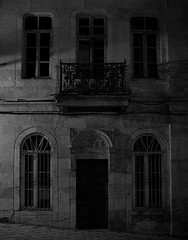 Bulgarian night (Vucko234) Tags: blackandwhite house monochrome night outdoor bulgaria balchik