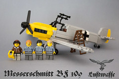 Messerschmitt bf 109 (kr1minal) Tags: world 2 airplane war lego nazi wwi german bf diorama 109 messerschmitt moc luftwaffe brickmania