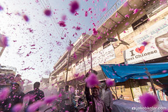 Purple Rain (Jakob Kolar) Tags: street travel pink india water colors festival asia colours religion celebration hindu indien colorfestival mathura holifestival uttarpradesh festivalofcolours