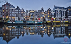 Amsterdam lights (Claudio Cantonetti) Tags: street city travel venice windows sunset holland reflection water amsterdam architecture night sunrise buildings landscape lights spring nikon cityscape north redlight channel 2016 thenetherland d7000 cantonetti claudiocantonetti