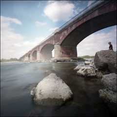 Po river (Crescentino, italy) # 2 (Roberto Messina photography) Tags: color 6x6 film analog pinhole analogue expired avril 2016 wppd fujipro160
