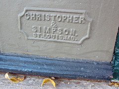 Christopher & Simpson, Greenville, IL (Robby Virus) Tags: building logo illinois iron christopher architectural cast storefront simpson greenville
