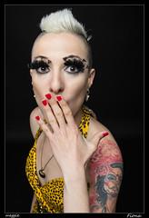 Fiona (Montse Estaca) Tags: portrait woman color yellow donna mujer dress retrato amarillo giallo fiona ritratto tatto vestido abito tatuaje