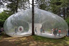 Inflatable dome (Elly Snel) Tags: music terschelling island woods research dome muziek bos herz eiland koepel onderzoek ansh plastiquefantastique residentie leineroebana scavenger7 katemore thestolzquartet oerol16 marcocanevacci