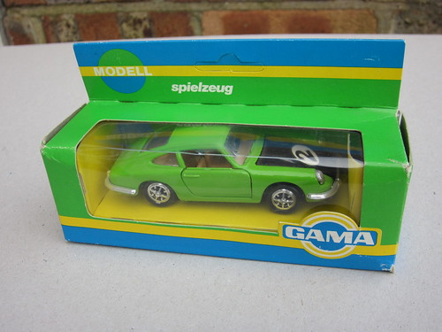 Vintage Gama Toys MAde In West Germany Porsche 911 Green& Black Racing Variant Boxed