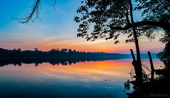 2016-05-27-pano-PotomacRiver_01-2-2 (KewliePhotos) Tags: reflection silhouette sunrise bluesky shore potomacriver riverreflection