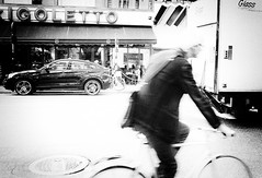 unseen faith (Dale Michelsohn) Tags: road street city blackandwhite cinema car bike bicycle nikon ride traffic bio cycle d7000 dalemichelsohn
