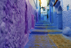 Chefchaouen (Kevin.Donegan) Tags: chefchaouen maroc morocco africa city town colour street purple blue bluecity arab culture steps