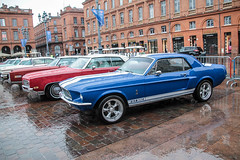 Mustang (xwattez) Tags: auto old france ford car automobile expo country voiture exposition american mustang transports toulouse ancienne capitole 2016 vhicule amricaine