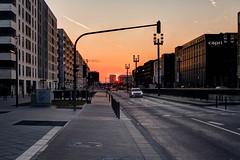 leaving frankfurt (dadiolli) Tags: sunset sonnenuntergang frankfurt fair messe frankfurtammain ffm lightbuilding