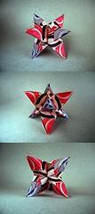 12 unit Sky Star Kusudama - Maria Sinayskaya (Rui.Roda) Tags: sky star origami maria modular 12 papiroflexia unit kusudama papierfalten sinayskaya