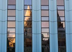 Fisherman's Bastion reflection (David Mecys) Tags: architecture europe hungary gothic budapest ungarn brutalism fishermansbastion bastionedeipescatori eurotrip20152016
