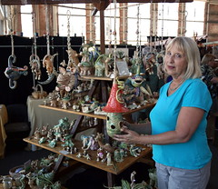 Wild Earth Sculpture (beppesabatini) Tags: california richmond bayarea artsandcrafts kpfa craftsfair artsfair cranewaypavilion 941kpfa 2ndannualkpfasummerartsfair2016 kpfasummerartsfair