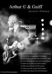 Poster of promotion of concerts with my photo (FgKs By DelocK OFF/ON) Tags: canon livemusic musique affiche claudedelock claudedelockphotographie promoteconcert arthurcamion arhturcguiff