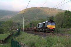 66304 Low Borrowbridge, Tebay, Cumbria (DieselDude321) Tags: ny hall low rail 66 class crewe cumbria network carlisle services ssm direct 0303 tebay basford drs 66304 borrowbridge 6c18