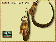 Bliensen - Dreki - earrings gold - (Plurabelle Laszlo of Bliensen + MaiTai) Tags: sl secondlife bliensen dragon dragonhead viking jewelry norse fantasyjewelry roleplay gorean gor medieval antique necklace earrings
