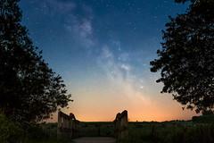 Milky way - second try (bhansen.kiel) Tags: bridge sky tree night canon way stars dawn nacht himmel sigma balticsea clear galaxy brcke milky ostsee baum schleswigholstein sterne hohenfelde milchstrase