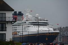 Look at me (quintinsmith_ip) Tags: sea people river fun ship down tourist disney passenger passing shipping southshields waltdisney disneymagic rivertyne