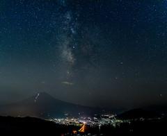 Milky Way on the Fuji (shinichiro*) Tags:    jp 20160707ds37852 2016 crazyshin nikond4s afsnikkor2470mmf28ged fuji lakekawaguchi yamanashi japan july summer milkyway tanabata   starfestival