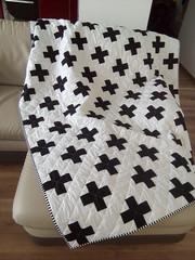 Swiss-cross-quilt_000011 (irina_vykhrestiuk) Tags: modern quilt handmade homemade twin kid child patchwork bedding bed quilting memory throw