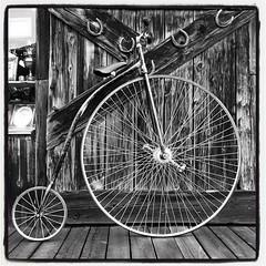 Penny farthing (dkfotog) Tags: bicycle spokes wheels victorian tires pedals handlebar pennyfarthing tyres highwheeler