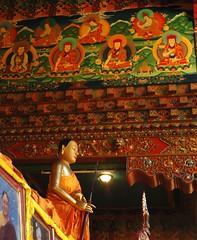 Wall painting of Sakya lamas, traditional painting of structural componants inside a traditional Tibetan monastery, Tharlam Monastery of Tibetan Buddhism, one of Buddha's primary students, Sakya Trizin foreground photo, Bodha, Kathmandu, Nepal (Wonderlane) Tags: nepal wall painting buddhist kathmandu lamas sakya 2056 bodha lamdre tharlammonasteryoftibetanbuddhism traditionalpaintingofstructuralcomponantsinsideatraditionaltibetanmonastery sakyatrizinforegroundphoto wallpaintingofsakyalamas oneofbuddhasprimarystudents