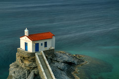 Andros Blues (hapulcu) Tags: bluehour aegean andros cyclades grece grecia greece griechenland kiklades chapel dusk spring