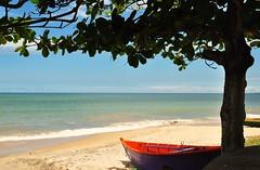 just a view (Ruby Augusto) Tags: sky tree praia beach boat sand barco areia céu marataízeses praiaoceânica