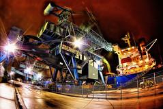 Drop Hammer /  (sakagemc) Tags: japan port nightscape crane structure nightview   sakagepic