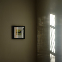 in the corner (dotintime) Tags: corner living room blinds light shade shadow photo frame wall scene dotintime meganlane