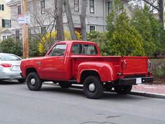 Dodge Power Wagon (JLaw45) Tags: road street new red england urban usa boston america truck work wagon power state metro massachusetts united north newengland pickup american area vehicle dodge metropolis states chrysler mass ram northeast metropolitan beantown powerwagon