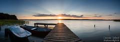 Ratzeburger See - Panorama (Dennis Siebert) Tags: see wasser sonnenuntergang himmel wolken boote schleswigholstein steg mecklenburgvorpommern ratzeburg lichtstrahlen utecht ratzeburgersee